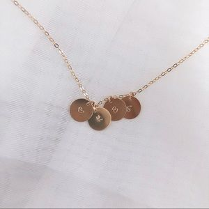 Jewelry - Personalized Initials Necklace, 4 Discs.